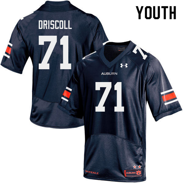 Youth #71 Jack Driscoll Auburn Tigers College Football Jerseys Sale-Navy