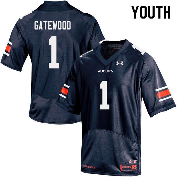 Youth #1 Joey Gatewood Auburn Tigers College Football Jerseys Sale-Navy