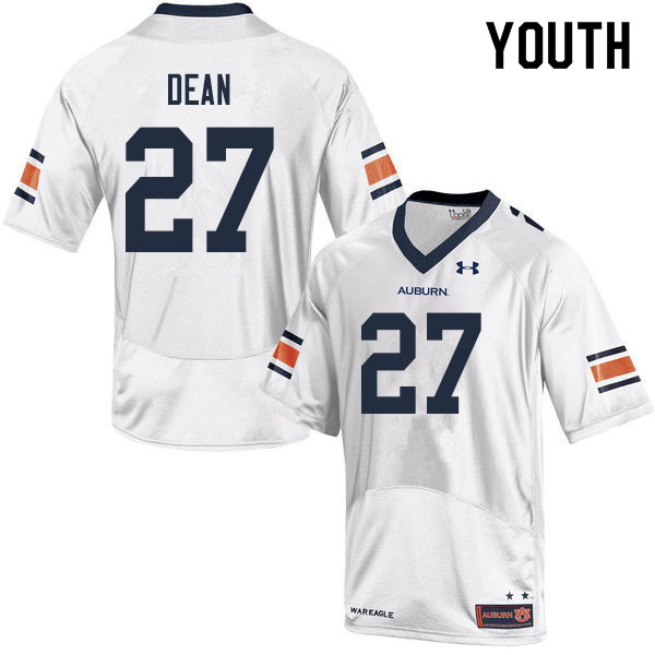 Youth #27 Tanner Dean Auburn Tigers College Football Jerseys Sale-White