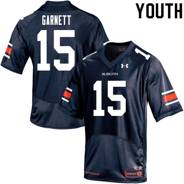 Youth #15 Chayil Garnett Auburn Tigers College Football Jerseys Sale-Navy