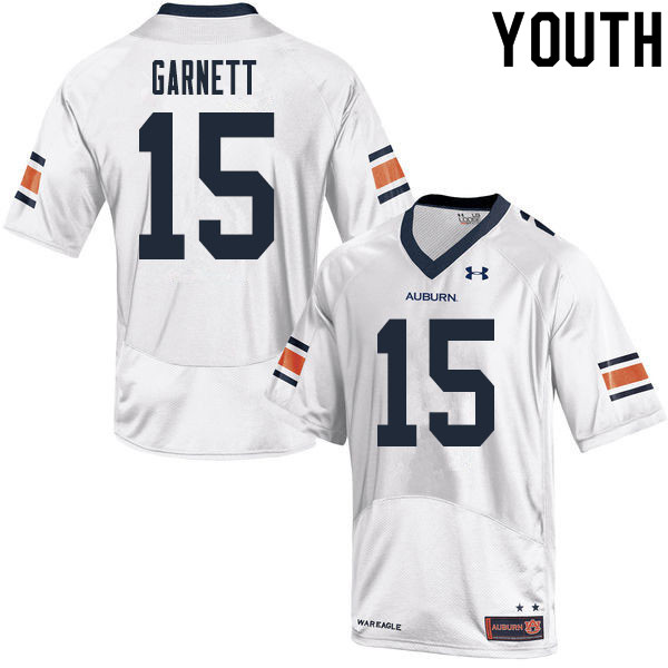 Youth #15 Chayil Garnett Auburn Tigers College Football Jerseys Sale-White