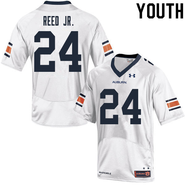 Youth #24 Eric Reed Jr. Auburn Tigers College Football Jerseys Sale-White