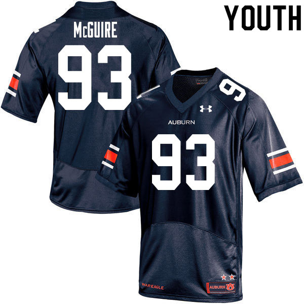 Youth #93 Evan McGuire Auburn Tigers College Football Jerseys Sale-Navy