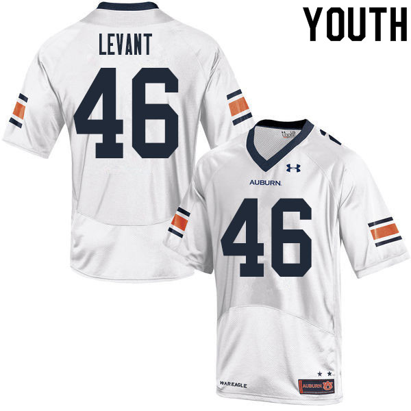 Youth #46 Jake Levant Auburn Tigers College Football Jerseys Sale-White