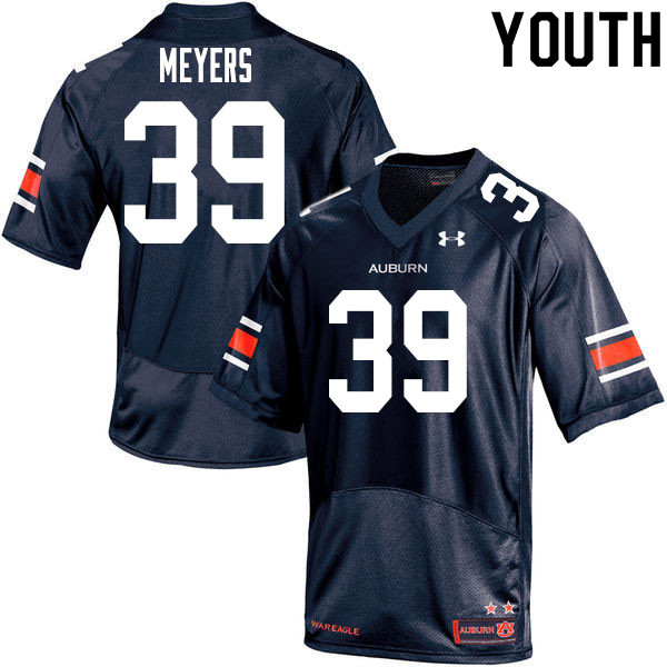 Youth #39 Marshall Meyers Auburn Tigers College Football Jerseys Sale-Navy
