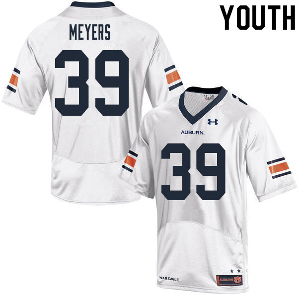Youth #39 Marshall Meyers Auburn Tigers College Football Jerseys Sale-White