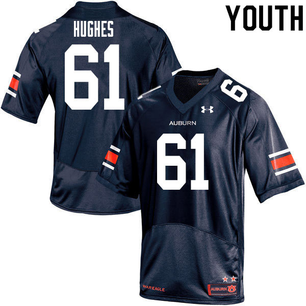 Youth #61 Reed Hughes Auburn Tigers College Football Jerseys Sale-Navy
