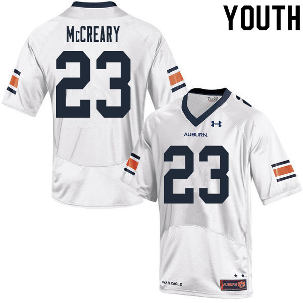 Youth #23 Roger McCreary Auburn Tigers College Football Jerseys Sale-White