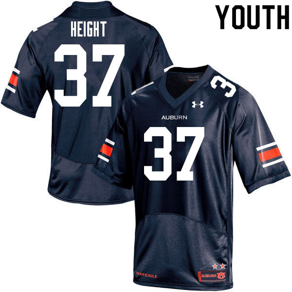 Youth #37 Romello Height Auburn Tigers College Football Jerseys Sale-Navy