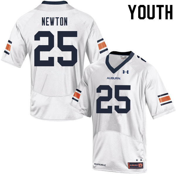 Youth #25 Caylin Newton Auburn Tigers College Football Jerseys Sale-White