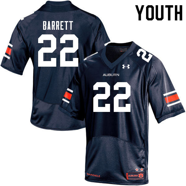 Youth #22 Devan Barrett Auburn Tigers College Football Jerseys Sale-Navy