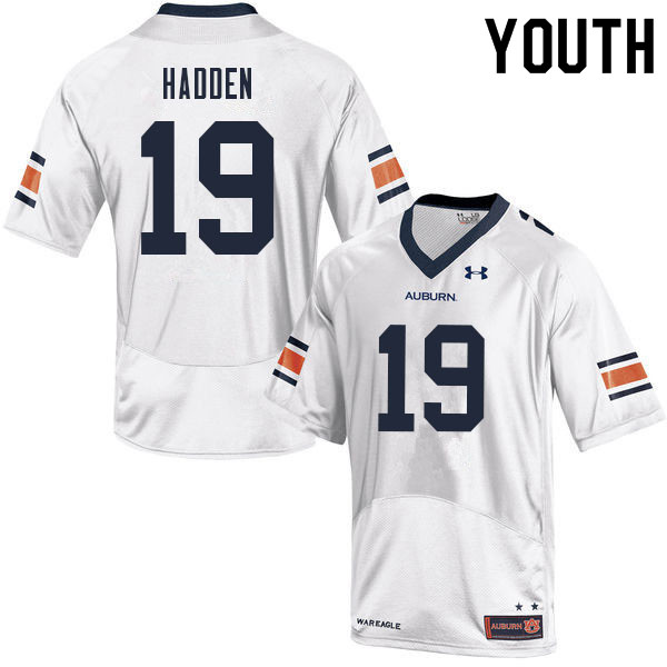 Youth #19 Kamal Hadden Auburn Tigers College Football Jerseys Sale-White