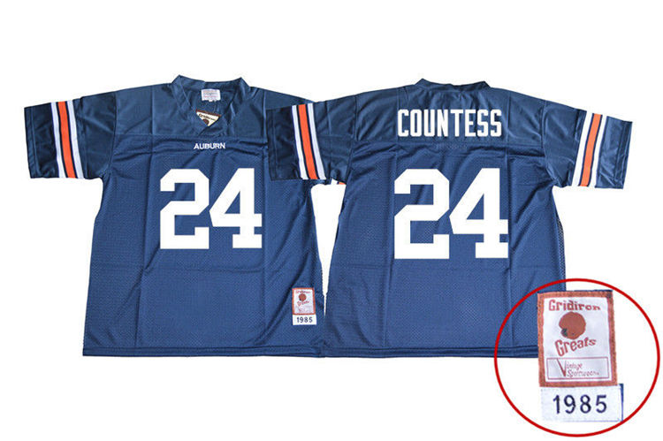 1985 Throwback Youth #24 Blake Countess Auburn Tigers College Football Jerseys Sale-Navy