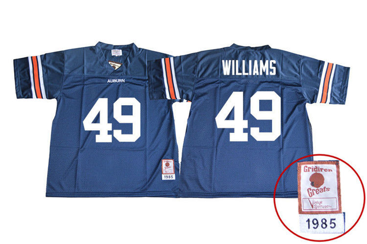 1985 Throwback Youth #49 Darrell Williams Auburn Tigers College Football Jerseys Sale-Navy