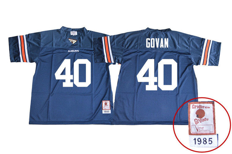 1985 Throwback Youth #40 Eugene Govan Auburn Tigers College Football Jerseys Sale-Navy