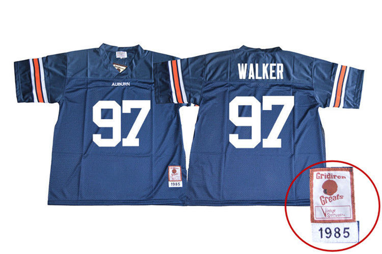 1985 Throwback Youth #97 Gary Walker Auburn Tigers College Football Jerseys Sale-Navy