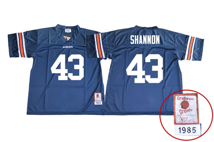 1985 Throwback Youth #43 Ian Shannon Auburn Tigers College Football Jerseys Sale-Navy