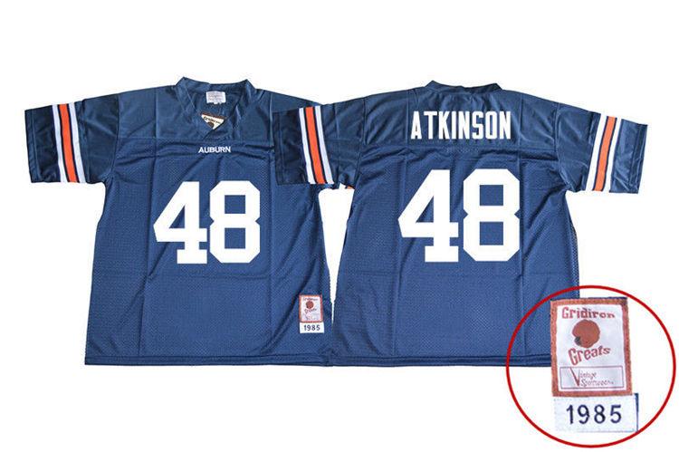 1985 Throwback Youth #48 Montavious Atkinson Auburn Tigers College Football Jerseys Sale-Navy