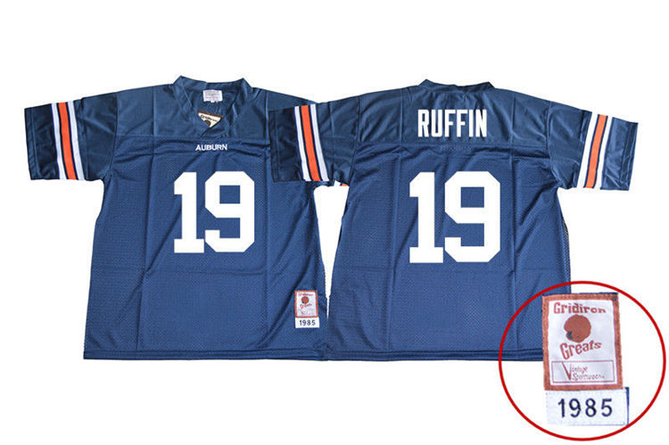 1985 Throwback Youth #19 Nick Ruffin Auburn Tigers College Football Jerseys Sale-Navy