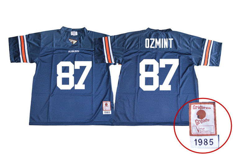 1985 Throwback Youth #87 Pace Ozmint Auburn Tigers College Football Jerseys Sale-Navy