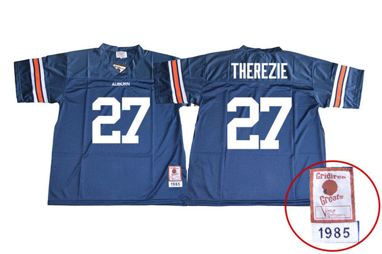 1985 Throwback Youth #27 Robenson Therezie Auburn Tigers College Football Jerseys Sale-Navy