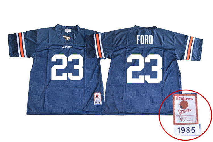 1985 Throwback Youth #23 Rudy Ford Auburn Tigers College Football Jerseys Sale-Navy