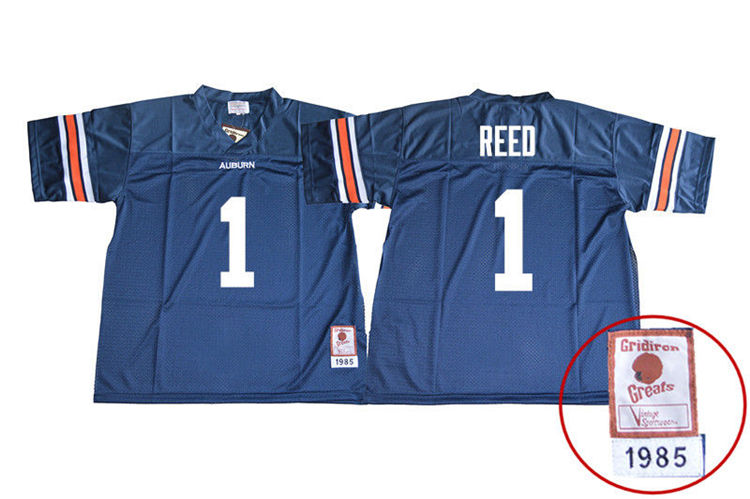 1985 Throwback Youth #1 Trovon Reed Auburn Tigers College Football Jerseys Sale-Navy